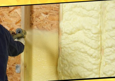 Colocación de poliuretano expandido